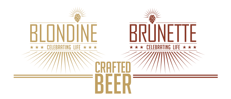 Blondine Brunette Beer Logo